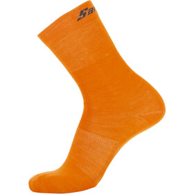 Santini Cycling Medium Wool Socks, fluo orange